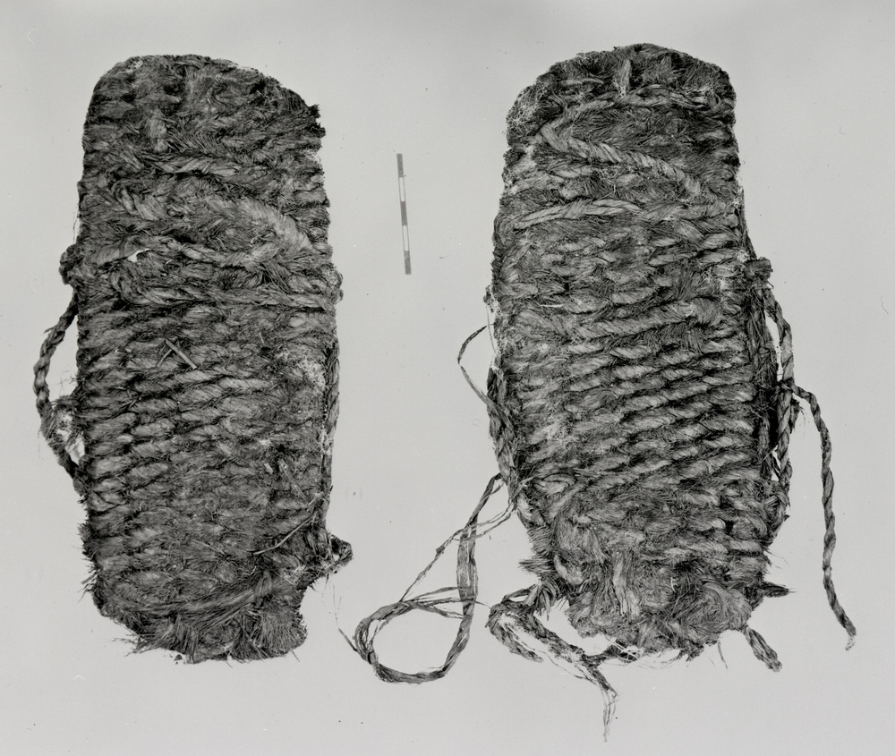 Sagebrush sandals excavated at Fort Rock Cave by Dr. Luther Cres