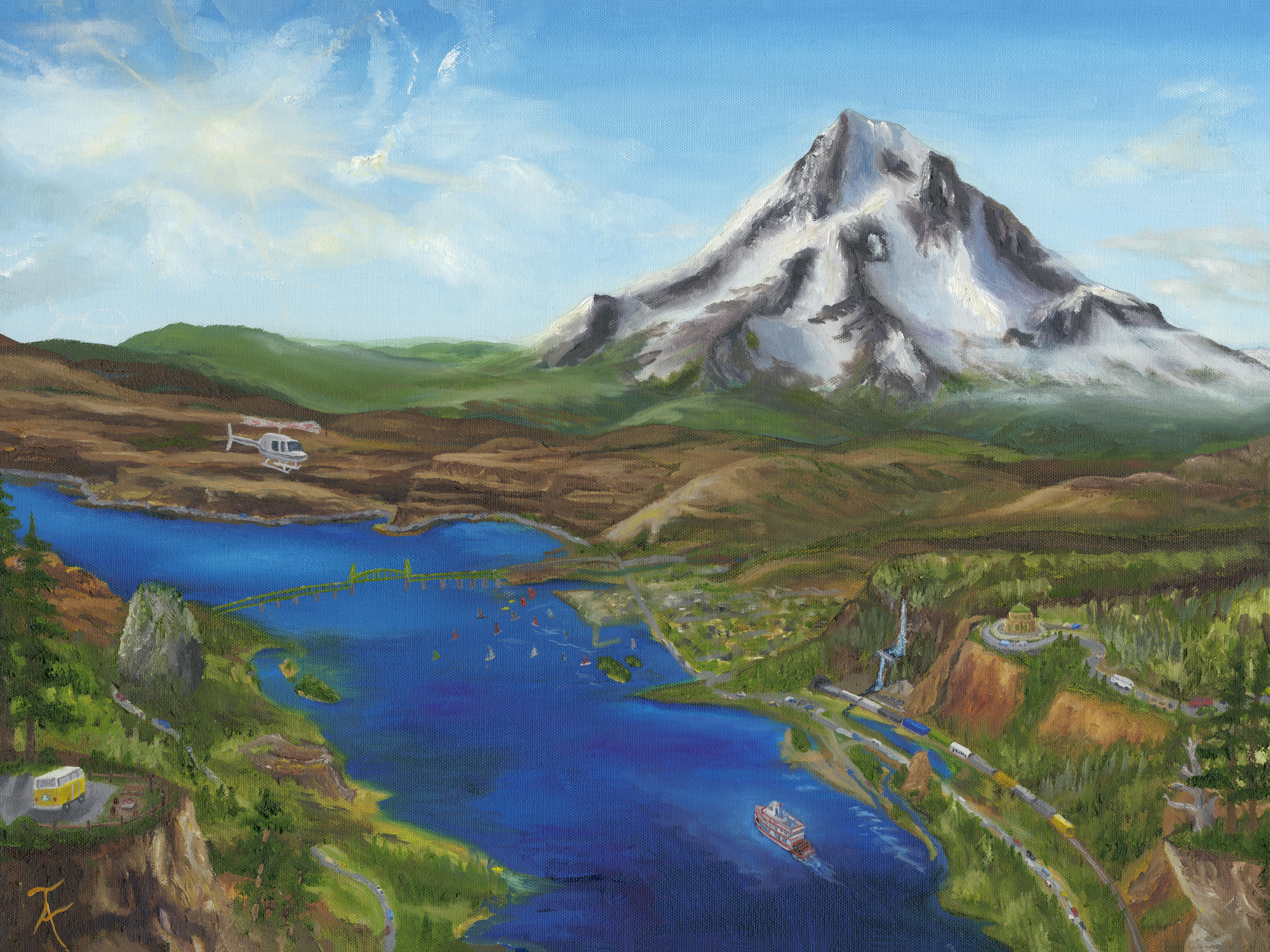 Taylor Allen Mt HoodTravel Painting 24 X 18 MF FINAL300res
